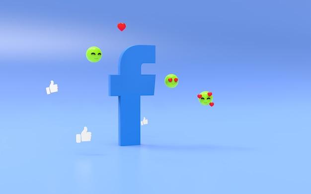 Logo facebook sur fond géométrique abstrait