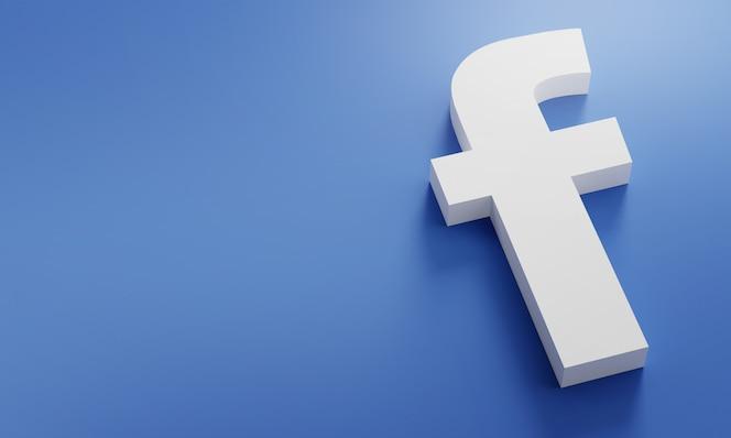 Logo facebook modèle de conception simple minimal. copy space 3d