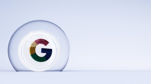 Logo google 3d avec fond blanc