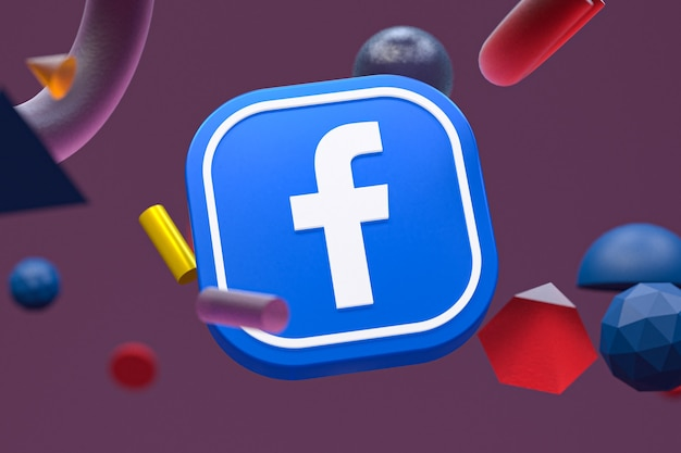 Logo ig facebook sur la géométrie abstraite