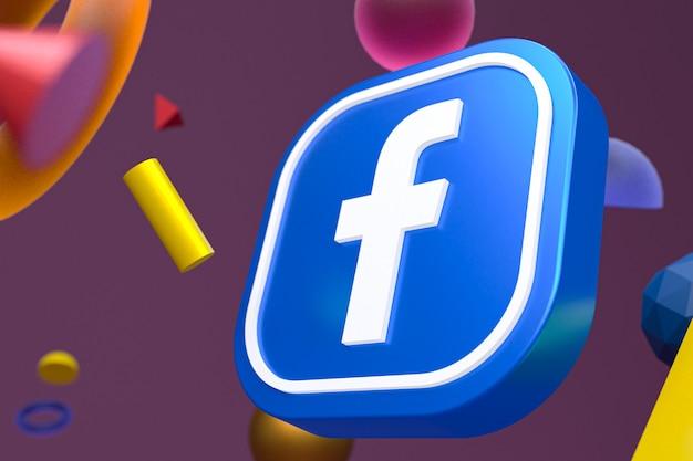 Logo Ig Facebook Sur La Géométrie Abstraite Photo Premium