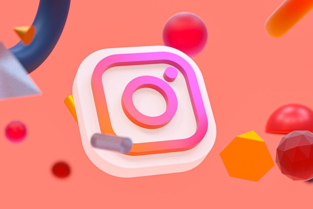 Logo ig instagram sur la géométrie abstraite
