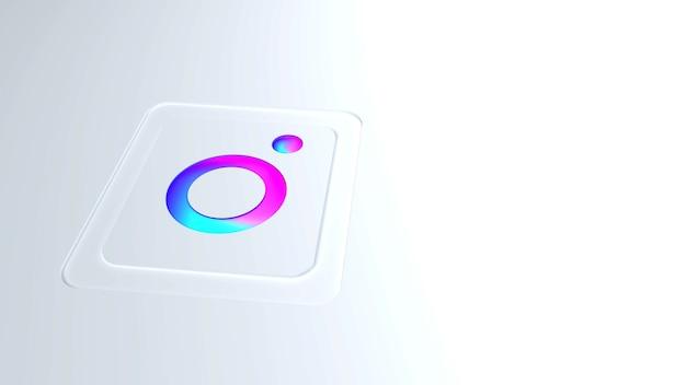 Logo instagram moderne en dégradé de couleurs avec fond