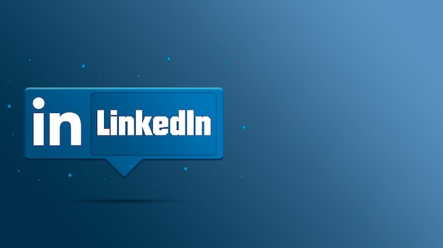 Logo linkedin sur bulle 3d