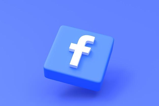 Logo de médias sociaux facebook mis en rendu 3d