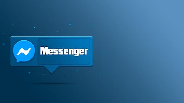 Logo messenger sur bulle 3d
