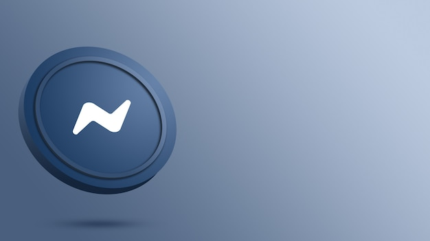 Logo messenger sur le rendu du bouton rond