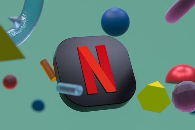 Logo netflix sur la géométrie abstraite