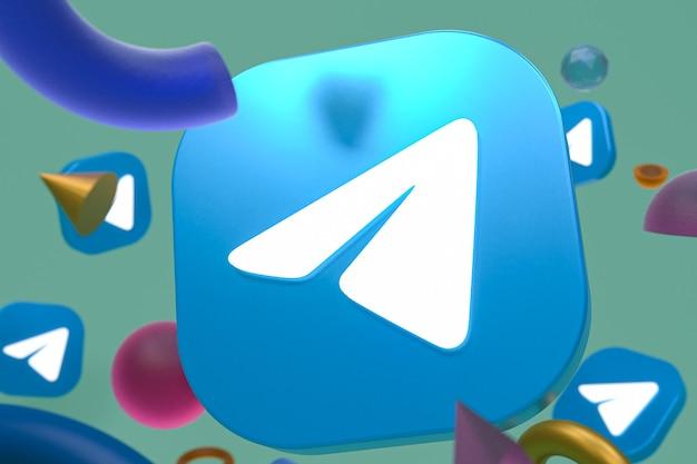 Logo de télégramme sur la géométrie abstraite