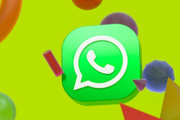 Logo whatsapp avec éléments de géométrie