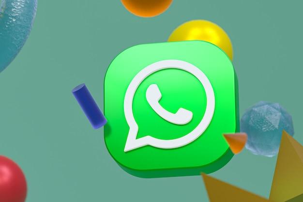 Logo whatsapp sur fond de géométrie abstraite