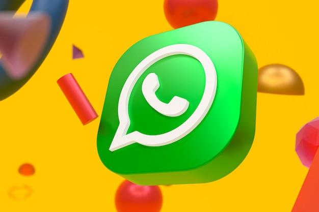 Logo whatsapp sur la géométrie abstraite