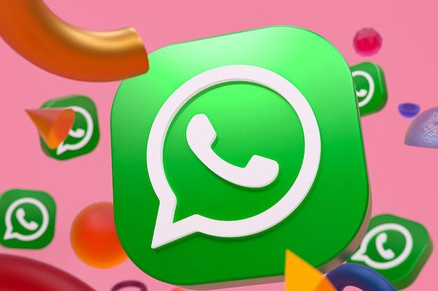 Logo Whatsapp Sur La Géométrie Abstraite Photo Premium