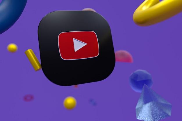 Logo Youtube Sur Fond De Géométrie Abstraite Photo Premium
