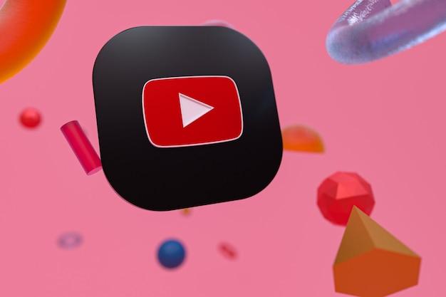 Logo Youtube Sur La Géométrie Abstraite Photo Premium