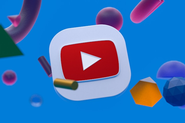 Logo youtube sur la géométrie abstraite
