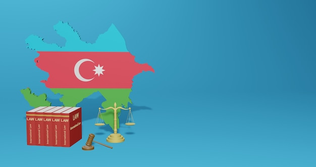 Loi azerbaïdjanaise pour l'infographie, le contenu des médias sociaux dans le rendu 3d