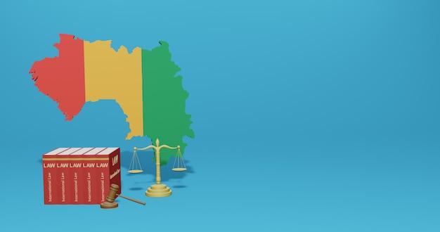 Loi de guinée bissau pour l'infographie, le contenu des médias sociaux dans le rendu 3d