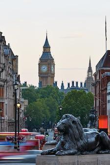 London trafalgar square lion et big ben