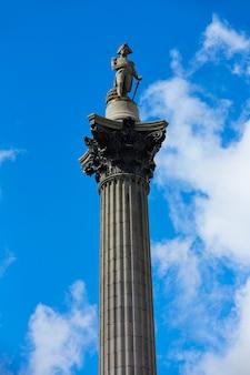 London trafalgar square nelson colonne