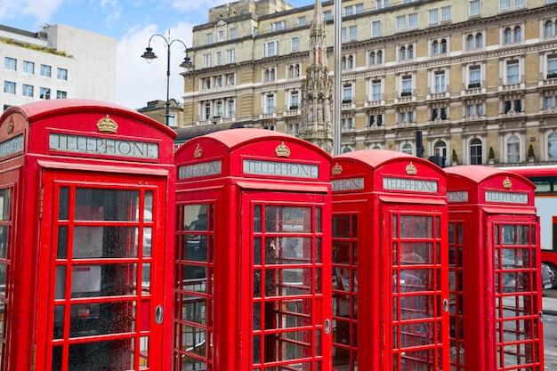 Londres vieux cabines téléphoniques rouges