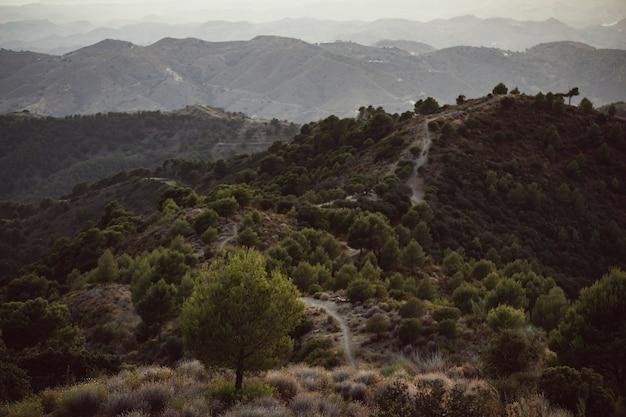 Longue exposition d'un magnifique paysage naturel