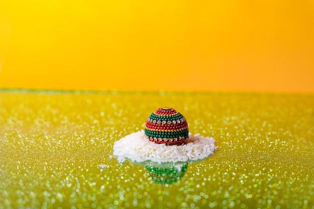 Lord ganesha, photographie de mariage, riz