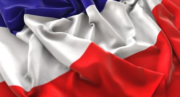 Los altos flag ruffled beautifully waving macro plan rapproché