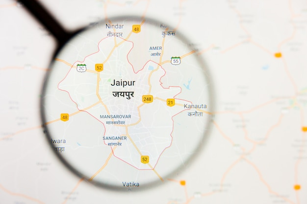 Loupe sur la carte de l'inde