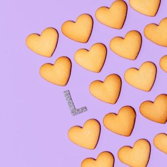 Love cookies conception d'art minimal couleurs de bonbons