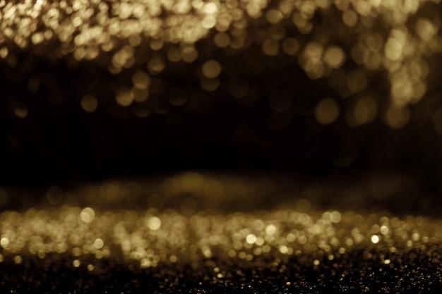 Lumière abstrait bokeh sur fond élégant d'or