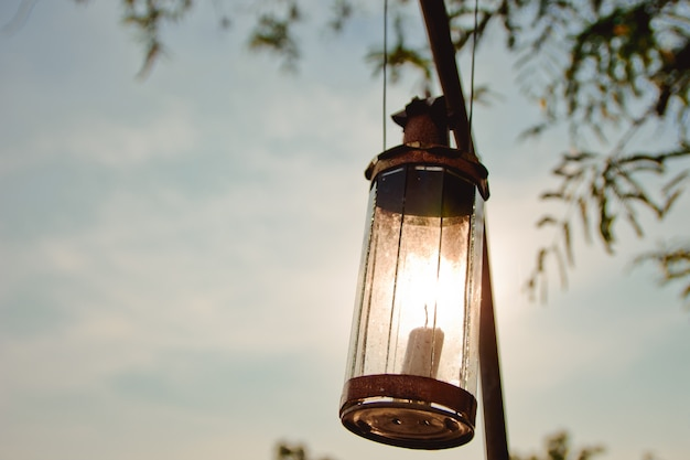 Lumière de l'ancienne lampe