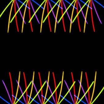 Lumière colorée sur fond noir