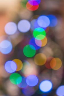 Lumière de couleur floue abstraite bokeh