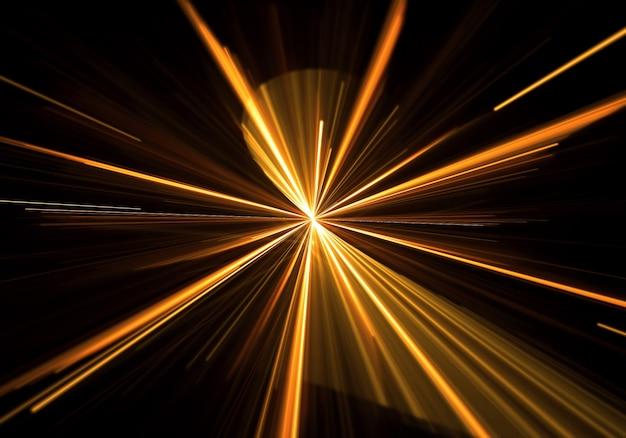 Lumière dorée éclata avec des rayons sortant