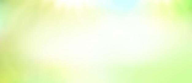 La lumière du soleil verte flou fond.
