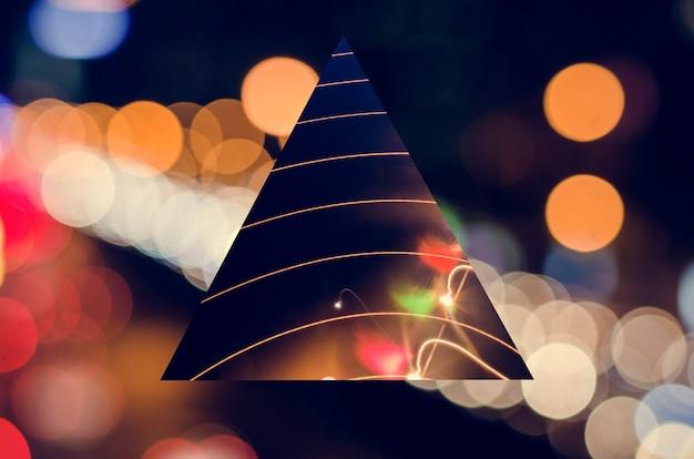 Lumière de fête géométrique de nuit