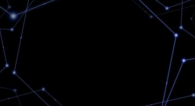 Lumière laser fluorescente motif de ligne droite sur fond noir