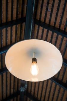 Lumière rétro de suspension blanche