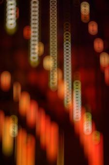La lumière rouge avec effet bokeh