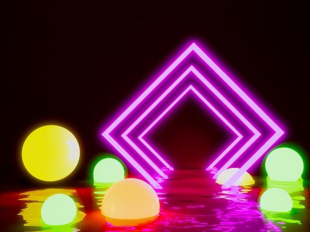 Lumière rougeoyante de rectangle