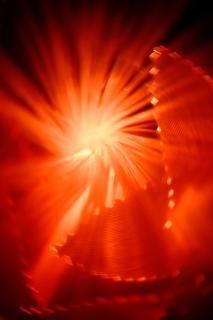 Lumières abstraites rouges