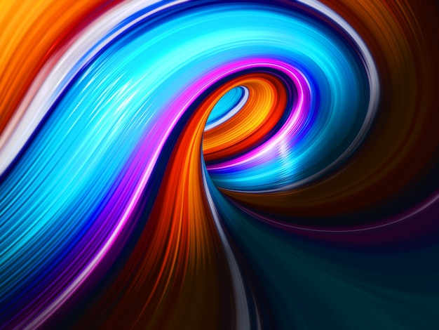 Lumières d'art colorées.