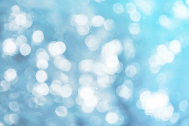 Lumières bleues et fond flocon de neige