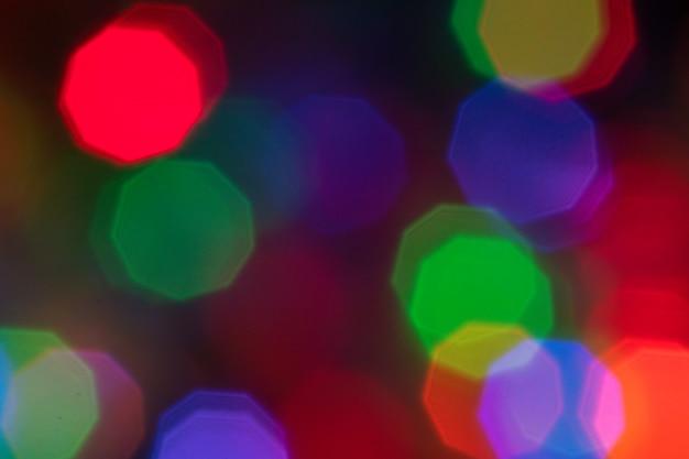 Lumières de bokeh abstrait coloré