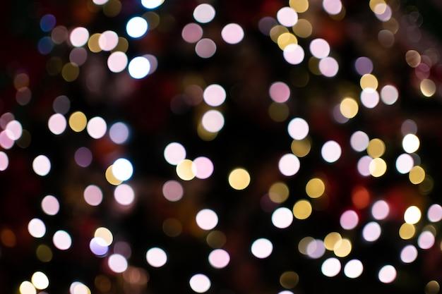 Lumières de bokeh de nuit de la ville