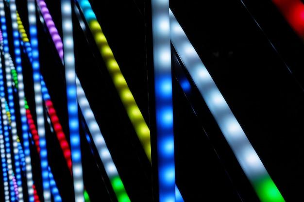 Lumières colorées de noël