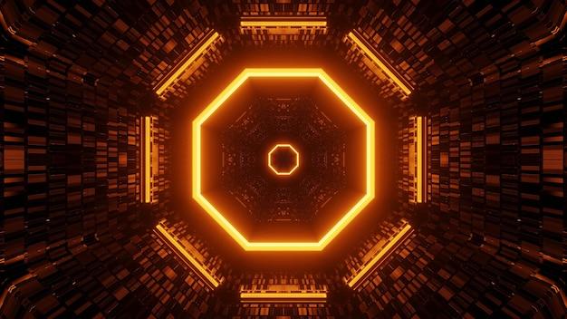Les lumières les unes à côté des autres disposées dans un ordre circulaire