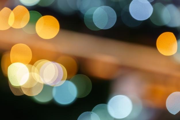 Lumières défocalisés abstrait fond bokeh rond coloré