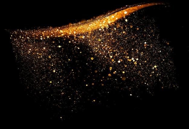 Lumières défocalisés de paillettes